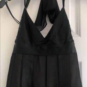 BCBG little black halter dress